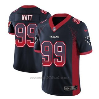 Camiseta NFL Limited Houston Texans Jj Watt Azul 2018 Drift Fashion Color Rush
