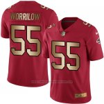 Camiseta Atlanta Falcons Worrilow Rojo Nike Gold Legend NFL Hombre