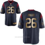 Camiseta Houston Texans Miller Profundo Azul Nike Gold Game NFL Hombre