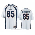 Camiseta NFL Game Denver Broncos Albert Okwuegbunam Blanco