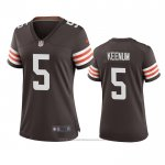 Camiseta NFL Game Mujer Cleveland Browns Case Keenum Marron