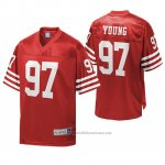 Camiseta NFL San Francisco 49ers Bryant Young Rojo Pro Line