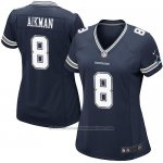 Camiseta Dallas Cowboys Aikman Negro Nike Game NFL Mujer