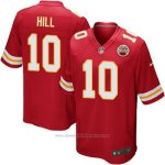 Camiseta NFL Limited Hombre 10 Hill Kansas City Chiefs Rojo