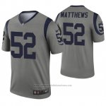 Camiseta NFL Legend Los Angeles Rams 52 Clay Matthews Inverted Gris