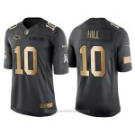 Camiseta Kansas City Chiefs Hill Negro 2016 Nike Gold Anthracite Salute To Service NFL Hombre
