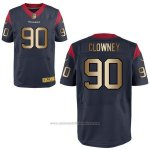 Camiseta Houston Texans Clowney Profundo Azul Nike Gold Elite NFL Hombre