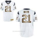 Camiseta Houston Texans Bouye Blanco Nike Gold Elite NFL Hombre