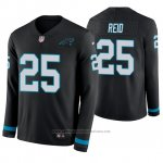 Camiseta NFL Hombre Carolina Panthers Eric Reid Negro Therma Manga Larga