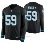 Camiseta NFL Hombre Carolina Panthers Luke Kuechly Negro Therma Manga Larga