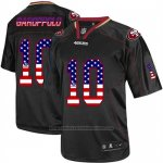 Camiseta NFL Limited Hombre San Francisco 49ers 10 Jimmy Garoppolo Negro Stitched USA Flag Fashion