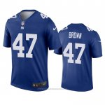 Camiseta NFL Legend New York Giants Cameron Brown Azul