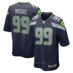 Camiseta NFL Game Seattle Seahawks Damontre Moore Azul