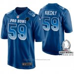 Camiseta NFL Hombre Carolina Panthers Luke Kuechly NFC 2019 Pro Bowl Azul