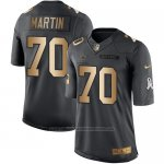 Camiseta Dallas Cowboys Martin Negro 2016 Nike Gold Anthracite Salute To Service NFL Hombre