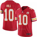 Camiseta NFL Limited Hombre Kansas City Chiefs 10 Tyreek Hill Rojo Stitched NFL Vapor Untouchable