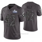 Camiseta NFL Limited Hombre Los Angles Rams John Kelly Gris Super Bowl LIII