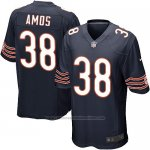 Camiseta Chicago Bears Amos Blanco Negro Nike Game NFL Nino