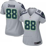 Camiseta Seattle Seahawks Graham Gris Nike Game NFL Mujer