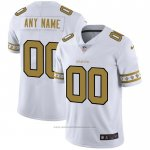 Camiseta NFL Limited New Orleans Saints Personalizada Team Logo Fashion Blanco