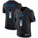 Camiseta NFL Limited Carolina Panthers Newton Smoke Fashion Negro