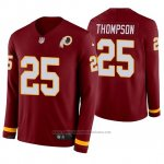 Camiseta NFL Hombre Washington Redskins Chris Thompson Burgundy Therma Manga Larga