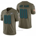Camiseta NFL Limited Philadelphia Eagles Personalizada 2017 Salute To Service Verde