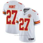 Camiseta NFL Limited Hombre 27 Hunt Kansas City Chiefs Blanco