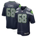 Camiseta NFL Game Seattle Seahawks Damien Lewis Azul