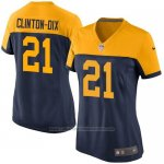 Camiseta Green Bay Packers Clinton Dix Negro Nike Game NFL Amarillo Mujer
