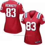 Camiseta New England Patriots Bennett Rojo Nike Game NFL Mujer