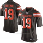 Camiseta Cleveland Browns Coleman Marron Nike Game NFL Hombre