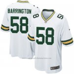 Camiseta Green Bay Packers Barrington Blanco Nike Game NFL Nino