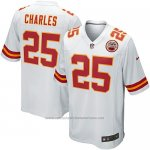 Camiseta Kansas City Chiefs Charles Blanco Nike Game NFL Nino