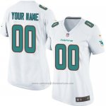 Camisetas NFL Limited Mujer Miami Dolphins Personalizada Blanco