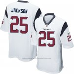 Camiseta Houston Texans Jackson Blanco Nike Game NFL Nino