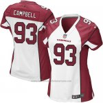 Camiseta Arizona Cardinals Campbell Blanco Rojo Nike Game NFL Mujer
