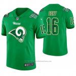 Camiseta NFL Limited Hombre Los Angles Rams Jared Goff St. Patrick's Day Verde