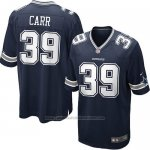Camiseta Dallas Cowboys Carr Negro Nike Game NFL Nino