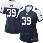 Camiseta Dallas Cowboys Carr Negro Blanco Nike Game NFL Mujer