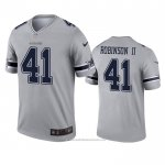 Camiseta NFL Legend Dallas Cowboys Reggie Robinson Ii Inverted Gris