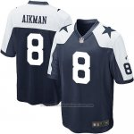 Camiseta Dallas Cowboys Aikman Negro Blanco Nike Game NFL Nino