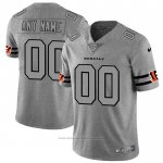 Camiseta NFL Limited Chicago Bears Personalizada Team Logo Gridiron Gris