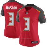 Camiseta NFL Limited Mujer Tampa Bay Buccaneers 3 Jameis Winston Rojo