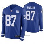 Camiseta NFL Hombre New York Giants Sterling Shepard Azul Therma Manga Larga
