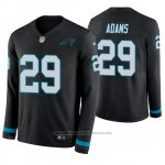 Camiseta NFL Hombre Carolina Panthers Mike Adams Negro Therma Manga Larga