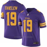 Camiseta NFL Limited Hombre Minnesota Vikings 19 Adam Thielen Violeta Stitched Rush