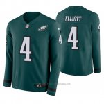 Camiseta NFL Hombre Philadelphia Eagles Jake Elliott Verde Therma Manga Larga