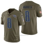 Camiseta NFL Limited Hombre Tennessee Titans 8 Marcus Mariota 2017 Salute To Service Verde