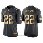 Camiseta Denver Broncos Anderson Negro 2016 Nike Gold Anthracite Salute To Service NFL Hombre